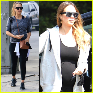 Pregnant Jessica Alba Starts Off Her Weekend at the Gym