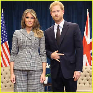 Prince Harry Meets First Lady Melania Trump for the First Time