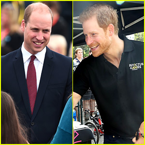 Princes William & Harry Make Appearances on Separate Sides of the Pond