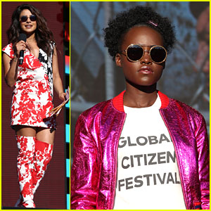Priyanka Chopra Hosts Global Citizen Festival with Lupita Nyong'o