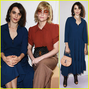 Rachel Weisz Buddies Up with Haley Bennett at Chloe Paris Fashion Show!
