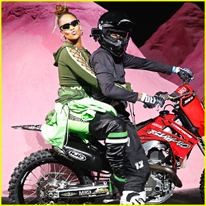 Rihanna Closes Her Fenty X Puma Fashion Show on a Dirtbike!