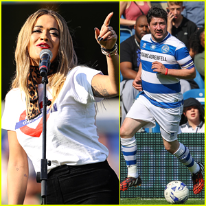 Rita Ora & Marcus Mumford Take Part in Charity Soccer Match