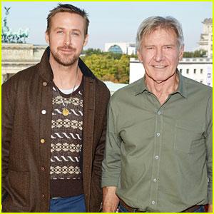 Ryan Gosling & Harrison Ford Kick Off 'Blade Runner 2049' Press in Berlin!