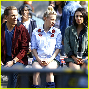 Sam Heughan Films 'Spy Who Dumped Me' Scenes in Amsterdam with Mila Kunis & Kate McKinnon!
