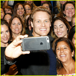These Photos Prove That Sam Heughan Loves His Fans!