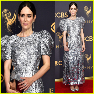 Sarah Paulson Shines on the Red Carpet at Emmys 2017