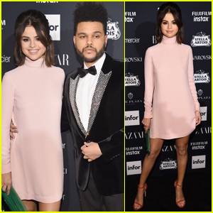 Selena Gomez & The Weeknd Make Rare Red Carpet Appearance at Harper's Bazaar Party