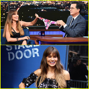 Sofia Vergara Gives Stephen Colbert Her Underwear on 'Late Show' - Watch Here!