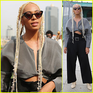 Solange Knowles Debuts Blonde Braided Look at Maryam Nassir Zadeh NYFW Show!