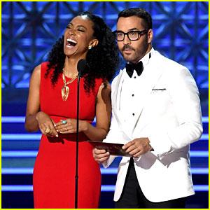 Sonequa Martin-Green & Jeremy Piven Present Together at Emmys 2017!