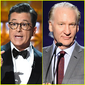 Stephen Colbert Takes Jab at Bill Maher at Emmys 2017 (Video)