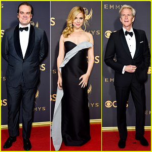'Stranger Things' Stars David Harbour, Cara Buono & Matthew Modine Hit the Emmys 2017 Red Carpet!