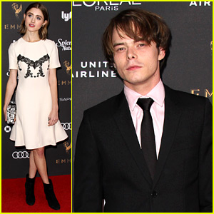 Stranger Things' Natalia Dyer & Charlie Heaton Prep for Their First Emmys!