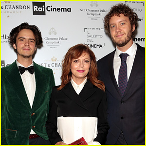 Susan Sarandon's Sons Miles & Jack Henry Join Her in Venice
