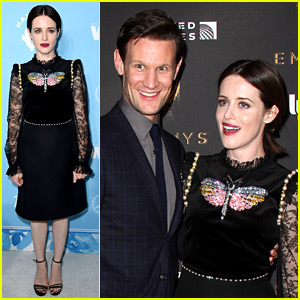 The Crown's Claire Foy & Matt Smith Reunite at Pre-Emmys Party!