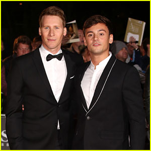 Tom Daley & Dustin Lance Black Are a Stylish Couple at GQ Men of the Year Awards 2017