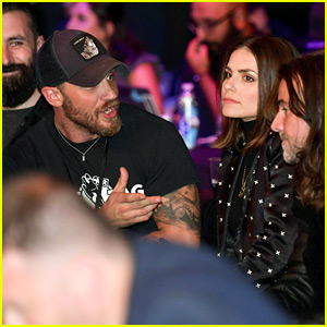 Tom Hardy Celebrates 40th Birthday with Wife Charlotte Riley at an MMA Match in London