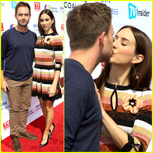 Troian Bellisario & Patrick J. Adams Share a Red Carpet Kiss!