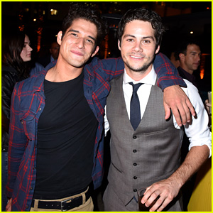 Tyler Posey Supports Dylan O'Brien at 'American Assassin' LA Premiere!