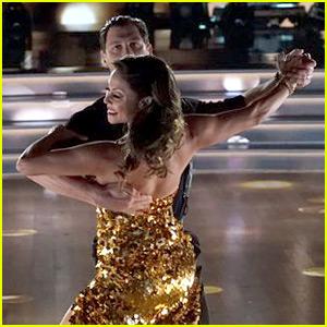 Vanessa Lachey Ties for Top Score on 'DWTS' Ballroom Night! (Video)