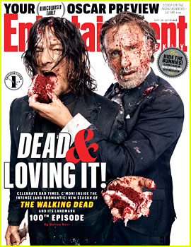 Norman Reedus & Andrew Lincoln Get Messy for The Walking Dead's EW Cover!