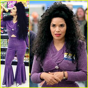 America Ferrera Dresses as Selena for 'Superstore' Halloween Episode!