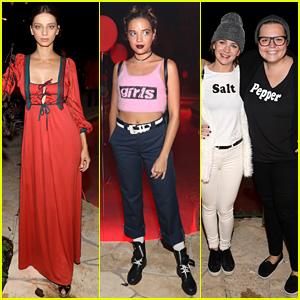 Angela Sarafyan, Georgie Flores, & Britt Robertson Get Creative at Just Jared Halloween Party