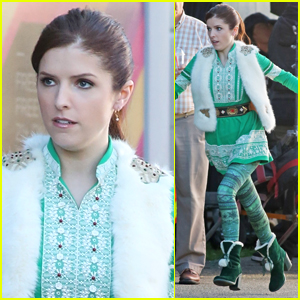 Anna Kendrick Rocks a Christmas Costume on Set of 'Nicole'!