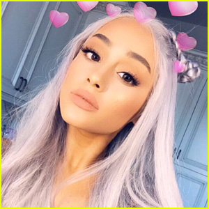 Ariana Grande Shows Off Her New Grey Hair in Stunning Selfie