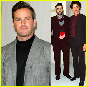 Armie Hammer Joins Zachary Quinto & Miles McMillan at Hammer Museum Gala