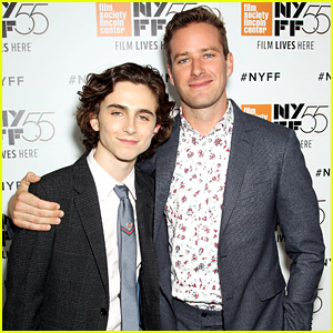 Armie Hammer & Timothee Chalamet Suit Up for 'Call Me By Your Name' NYC Premiere