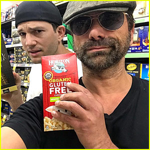 Ashton Kutcher & John Stamos Ran Into Each Other at the Grocery Store