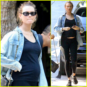 Behati Prinsloo Flashes Her Baby Bump While Out in Beverly Hills!