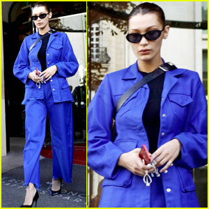 Bella Hadid Narrowly Avoids Photographer Scuffle in Paris