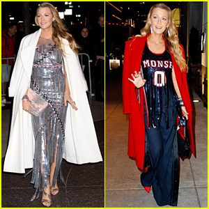 Blake Lively Stuns in Metallic Silver Dress & Jersey-Inspired Outfit for 'All I See Is You' Premiere