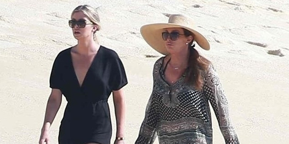 caitlyn jenner enjoys a day at the beach in mexico