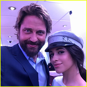 Camila Cabello Poses With Fans & Meets Gerard Butler in London!