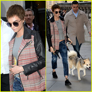 Cara Delevingne Steps Out With Adorable Dog Leo in London!