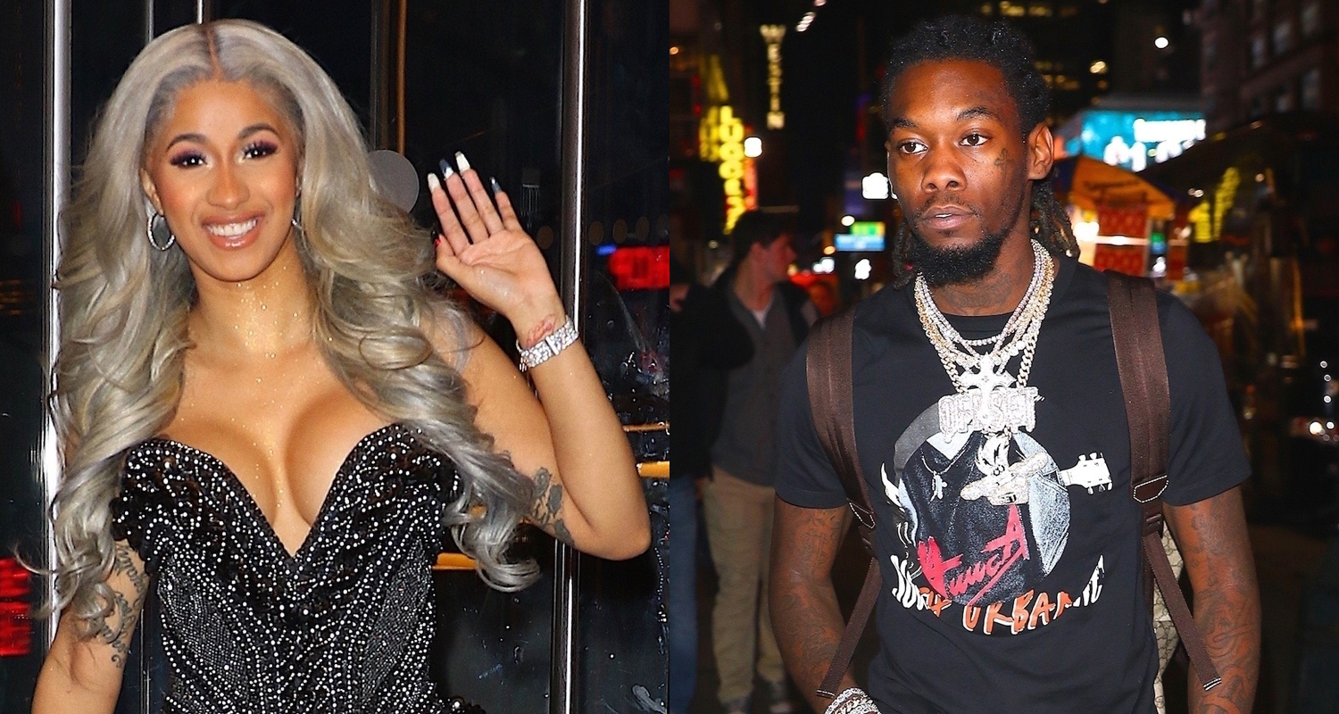 Cardi B & Fiance Offset Show Off Their Styles While Out In