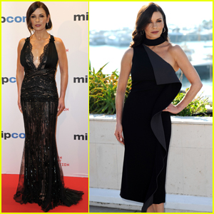 Catherine Zeta Jones Gets Glam to Kick Off MIPCOM in Cannes!