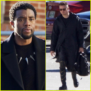 Chadwick Boseman & Jeremy Renner Suit Up for 'Avengers 4' Filming!