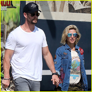 Chris Hemsworth & Elsa Pataky Hold Hands While Shopping in Venice