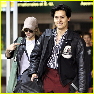'Riverdale' Co-Stars Cole Sprouse & Lili Reinhart Return to Vancouver Together