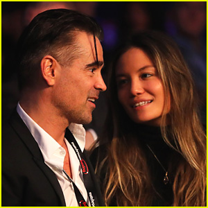 Colin Farrell Kisses Mystery Girlfriend at Boxing Match