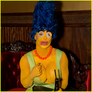 Colton Haynes Channels Marge Simpson at Freixenet Halloween Party!