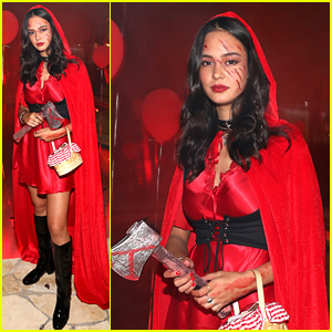 Courtney Eaton Is a Bloody Little Red at Just Jared Halloween Party 2017!