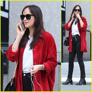 Dakota Johnson Looks Cute on Her Birthday in NYC!