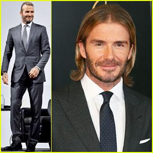 David Beckham Lets His Hair Down at Tokyo Photo Call for Las Vegas Sands!