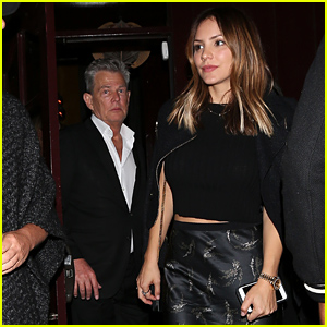 David Foster & Katharine McPhee Leave The Peppermint Club Together!